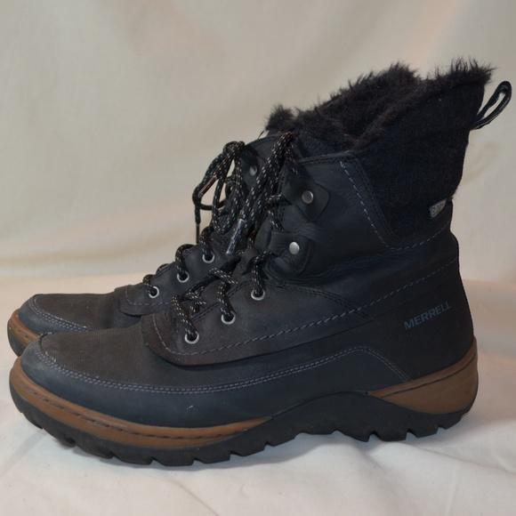 734b094eb4e83 Merrell Shoes   Black Sylva Mid Lace Waterproof Boots   Poshmark